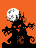 Boo Trick Or Treat card design