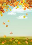 Fototapety Vector Autumn landscape