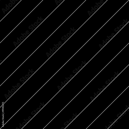 Vector seamless pattern. Modern stylish texture. Repeating geometric tiles with diagonal lines - stock vector - 91145275