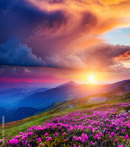 Naklejka magical mountains landscape