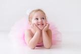 Fototapety Little ballerina in pink tutu
