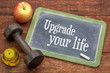 Detaily fotografie upgrade your life concept