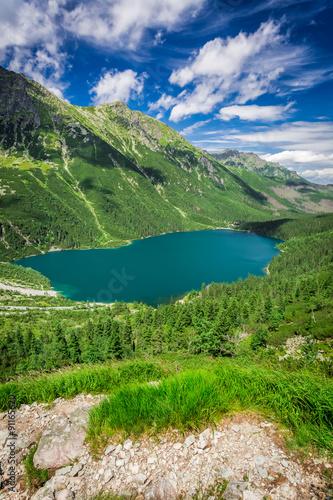 Zdjęcia na płótnie, fototapety na wymiar, obrazy na ścianę : Wonderful pond in the Tatra Mountains at sunrise