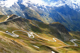 View of the Grossglockner High Alpine Road (Hochalpenstrasse). The windy road with 36 bends that leads to the heart of the Hohe Tauern National Park in Austria.