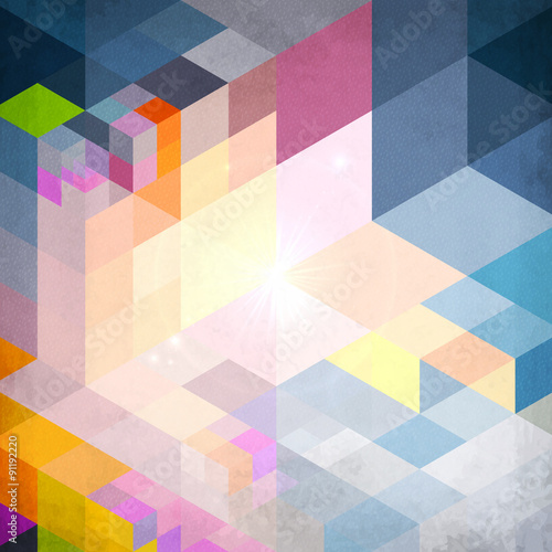 Fototapeta Abstract geometry blue vector grunge background