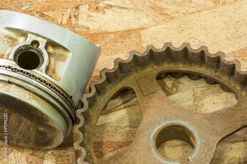 Poster rusty gears