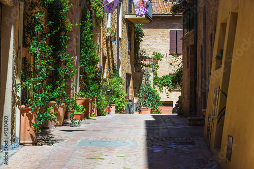 Nooks in the beautiful Tuscan picturesque old town