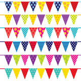 colorful cute bunting and banner suitable for your cute party decoration