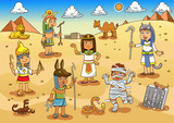 Illustration of egypt child cartoon. - 91235439