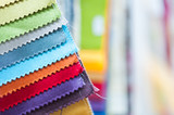 Fototapety Colorful Fabric Samples Background