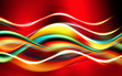 Multicolor elegant design. Abstract waves background