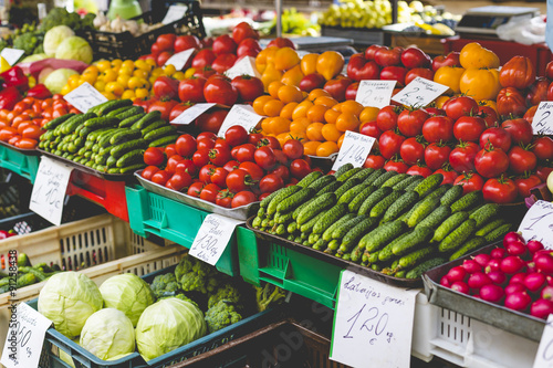 Foto op Plexiglas Indonesië Fruits and Vegetables at City Market in Riga