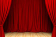 Act drape with red curtains
