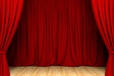 Act drape with red curtains - 91268239