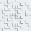 Vector Abstract geometric shape from gray cubes. White squares