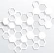 Hexagonal abstract 3d background, vector illustration
