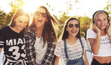 Group of teenagers laughing - Fine Art prints