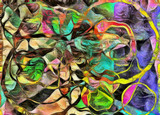 Fototapety Swirling Shapes, Color and Lines