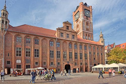 Fototapeta Town Hall in Torun, Poland