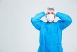 Portrait of anxiety surgeon