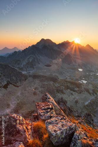 Vertical photo in rocky mountain landscape