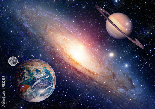 Aluminium Nasa Astrology astronomy earth moon space saturn planet solar system creation. Elements of this image furnished by NASA.