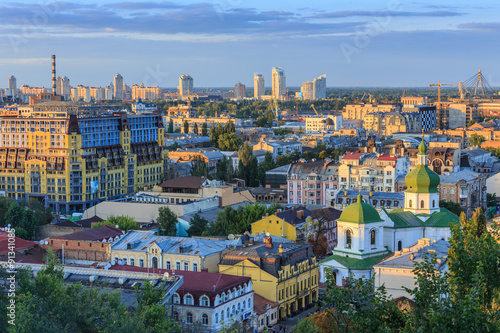 Foto op Canvas Kiev Kyiv city from the Castle Hill
