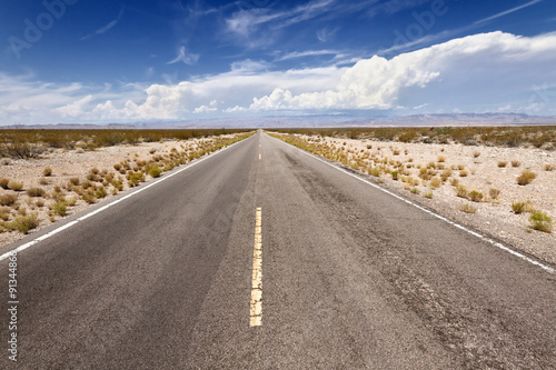 Open Road in Mohave Desert, CA