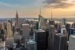 New York City midtown skyline.