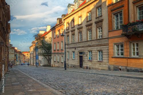 Obraz na Plexi Warszawskie kamienice