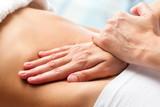 Fototapety Osteopathic belly massage.