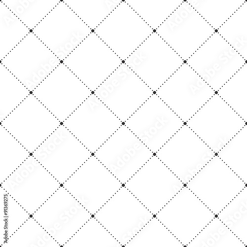 Squares and Dots Seamless Pattern - 91369275