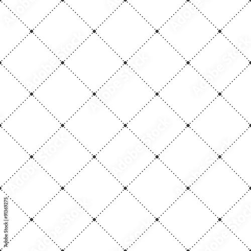 Fototapeta Squares and Dots Seamless Pattern