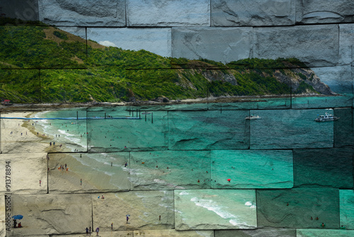 Tuinposter Edelsteen The art of painting stone background