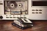 Fototapety old retro cassette recorder
