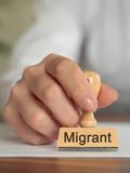 Migrant Stempel Detail poster