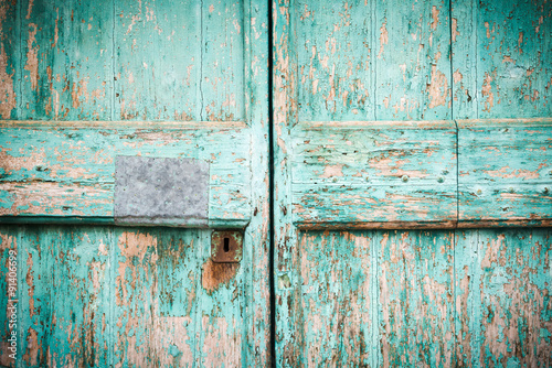 Doors and elements of the old Italian village in Tuscany