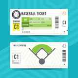 Baseball Ticket Card modern element design