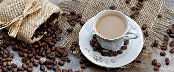 Fototapeta filiżanka kawy z mlekiem