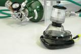 oxygen cylinder blur background