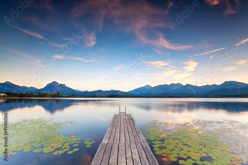 Fototapeta Herbstabend am See