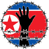 violation of human rights in North Korea. raster variant poster