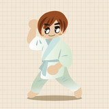Taekwondo theme elements vector,eps