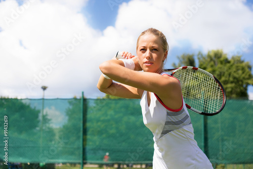 Poster Woman playing tennis