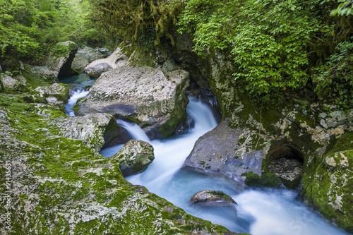 Foto op Canvas Caraïben waterfall in the gorge Chernigovka
