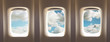 airplane windows - 91444067