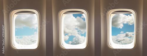 Fototapeta airplane windows