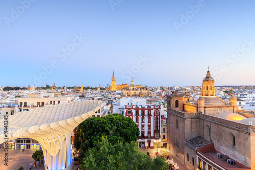 Seville with Santa Maria de la Sede Cathedral, Andalusia