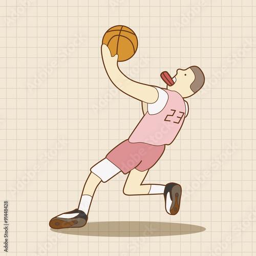 Fotobehang Basketbal basketball player elements vector,eps