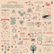 Set of vintage infographics design elements